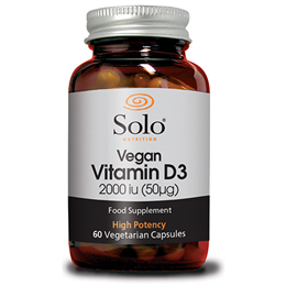 Solo Nutrition Vegan Vitamin D3 2000iu - 60 x 50mcg Vegicaps