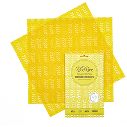 BeeBee Wraps - The Sandwich Pack Beeswax Wraps (Wheat design)