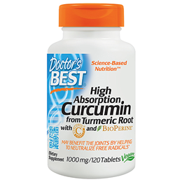 Doctors Best High Absorption Curcumin - BioPerine - 120 x 1000mg Tabs