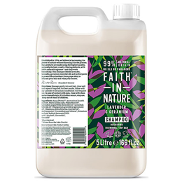 Faith in Nature Lavender & Geranium Nourishing Shampoo Refill - 5 Litre