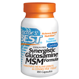 Doctors Best Synergistic Glucosamine MSM Formula - 180 Capsules