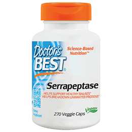 Doctors Best Serrapeptase - 40,000 Units - 270 Vegicaps