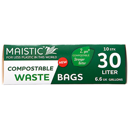 Maistic Compostable Waste Bags - 30 Litre - 10 Bags
