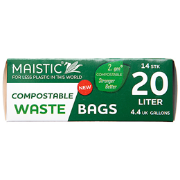 Maistic Compostable Waste Bags - 20 Litre - 14 Bags
