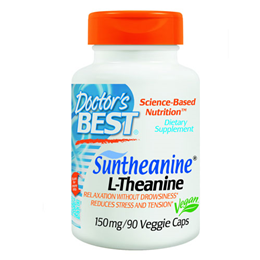 Doctors Best Suntheanine - L-Theanine - 90 x 150mg Vegicaps