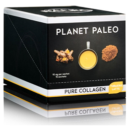 Planet Paleo Turmeric Latte Pure Collagen Powder - 15 Sachets