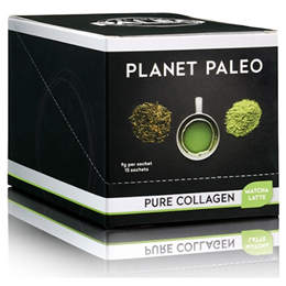 Planet Paleo Matcha Latte Pure Collagen Powder - 15 Sachets