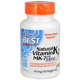 Doctors Best Natural Vitamin K2 - MenaQ7 - 60 x 45mcg Vegicaps
