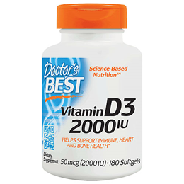 Doctors Best Vitamin D3 2000iu - 180 Softgels