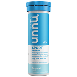 Nuun Sport 10 Effervescent Hydration Tablets - Tropical Flavour