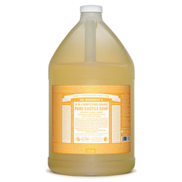 Dr Bronner`s 18-in-1 Organic Citrus-Orange Pure-Castile Liquid Soap Refill - 3.8 Litre