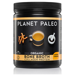 Planet Paleo Organic Golden Turmeric Bone Broth Collagen Protein - 450g Powder