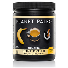 Planet Paleo Organic Vanilla & Banana Bone Broth Sports Protein Powder - 480g