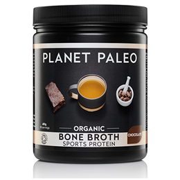 Planet Paleo Organic Chocolate Bone Broth Sports Protein - 480g Powder