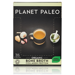 Planet Paleo Organic Herbal Defence Bone Broth Collagen Protein Powder- 10 Sachets