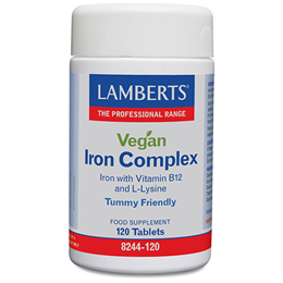 LAMBERTS Vegan Iron Complex - 120 Tablets