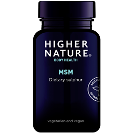 Higher Nature MSM - Sulphur - 90 x 1000mg Tablets