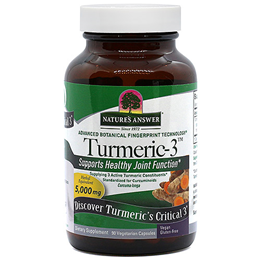 Nature`s Answer Turmeric-3 - 90 x 5000mg Vegicaps