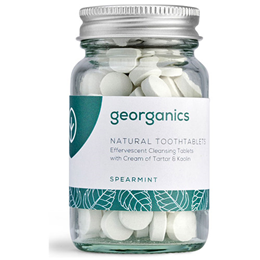 Georganics Natural Spearmint Flavour Toothpaste Tablets - 120 Tablets