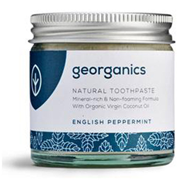 Georganics Organic Natural Mineral-Rich English Peppermint Toothpaste - 60ml
