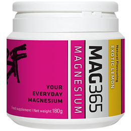 MAG365 Bone Support Formula Magnesium Powder - Exotic Lemon - 180g