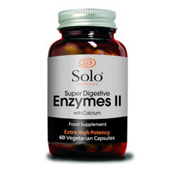 Solo Nutrition Super Digestive Enzymes II with Calcium - 60 Vegicaps