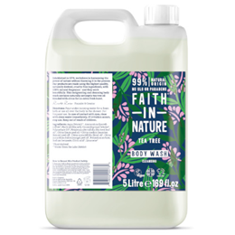 Faith in Nature Tea Tree Cleansing Body Wash Refill - 5 Litre