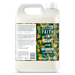 Faith in Nature Jojoba Smoothing Conditioner for Normal to Dry Hair Refill - 5 Litre