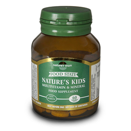 Natures Own Food State Natures Kids - Multivitamin - 60 Tablets - Best before date is 31st May 2017