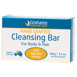 Grahams Hand-Crafted Cleansing Bar for Body & Hair - 100g