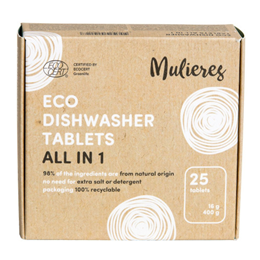 Mulieres Eco Dishwasher Tablets All in 1 - 25 Tablets