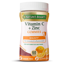 Nature`s Bounty Vitamin C + Zinc - 60 Gummies