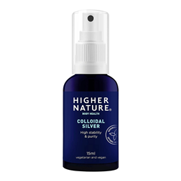 Higher Nature Colloidal Silver - High Stability - 15ml