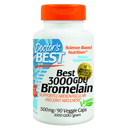 Doctors Best 3000 GDU Bromelain - 90 x 500mg Vegicaps