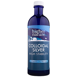 Higher Nature Colloidal Silver - High Stability - 200ml