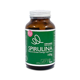 Health Elements High Potency Organic Spirulina Powder - 100g