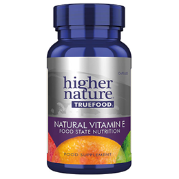 Higher Nature True Food Natural Vitamin E - 90 x 185iu Vegicaps