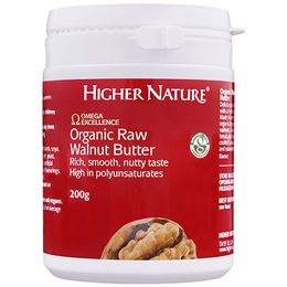 Higher Nature Omega Excellence Organic Raw Walnut Butter - 200g