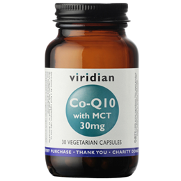 Viridian Co-Enzyme Q10 with MCT - 30 x 30mg Vegicaps