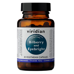 Viridian Bilberry with Eyebright Extract - 30 Vegicaps