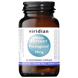 Viridian High Potency Pycnogenol - 30 x 50mg Vegicaps