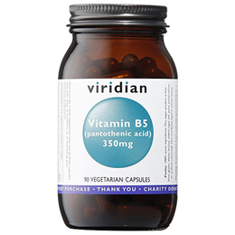 Viridian Vitamin B5 - Pantothenic Acid - 90 Vegicaps