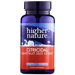 Higher Nature Citricidal Grapefruit Seed Extract - 100 x 100mg Tablets