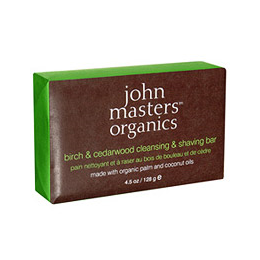 John Masters Organics Birch & Cedarwood Cleansing & Shaving Bar  -128g