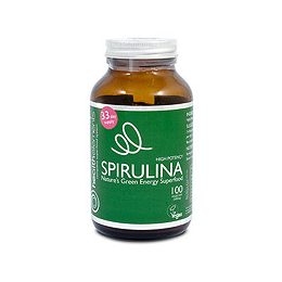Health Elements High Potency Spirulina - 100 x 500mg Vegicaps