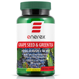 Enerex Grape Seed Extract and Green Tea - 60 Vegicaps