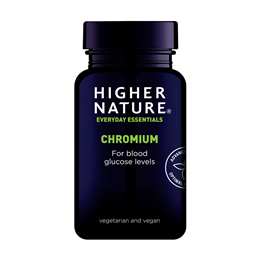 Higher Nature Chromium 200mcg - Glucose Tolerance Factor - 90 Tablets