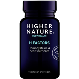 Higher Nature H Factors- Homocysteine & Heart Nutrients - 180 Vegicaps