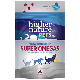 Higher Nature Pets Super Omegas - 60 Capsules