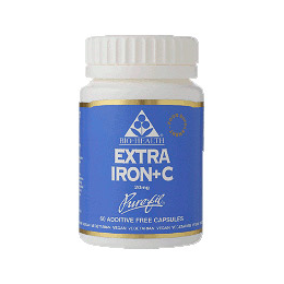 Bio Health Extra Iron + Vitamin C - 60 Vegicaps